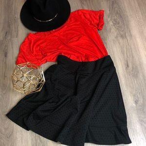 joe B circular black skirt, size: L